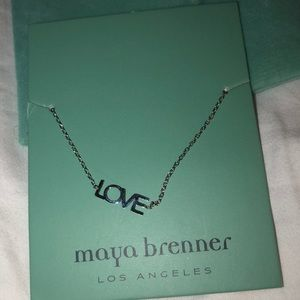 """maya brenner Jewelry - Silver """"Love"""" necklace"""